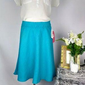 Sunny Leigh NWT 100% Linen A-line Skirt Size L